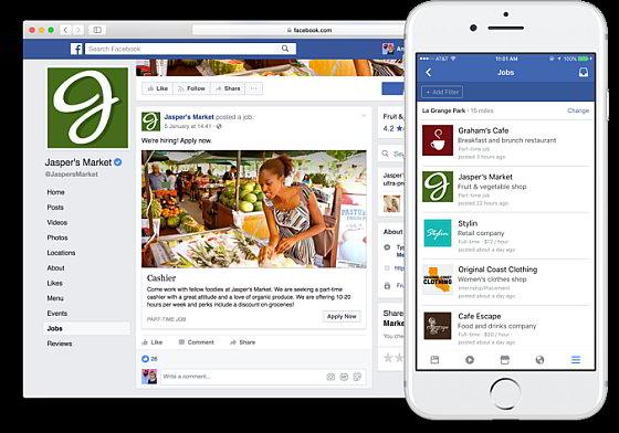 Facebook Jobs - Sollicteren